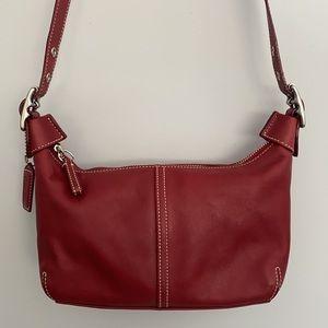 Coach Brick Red Leather Shoulder Bag EUC